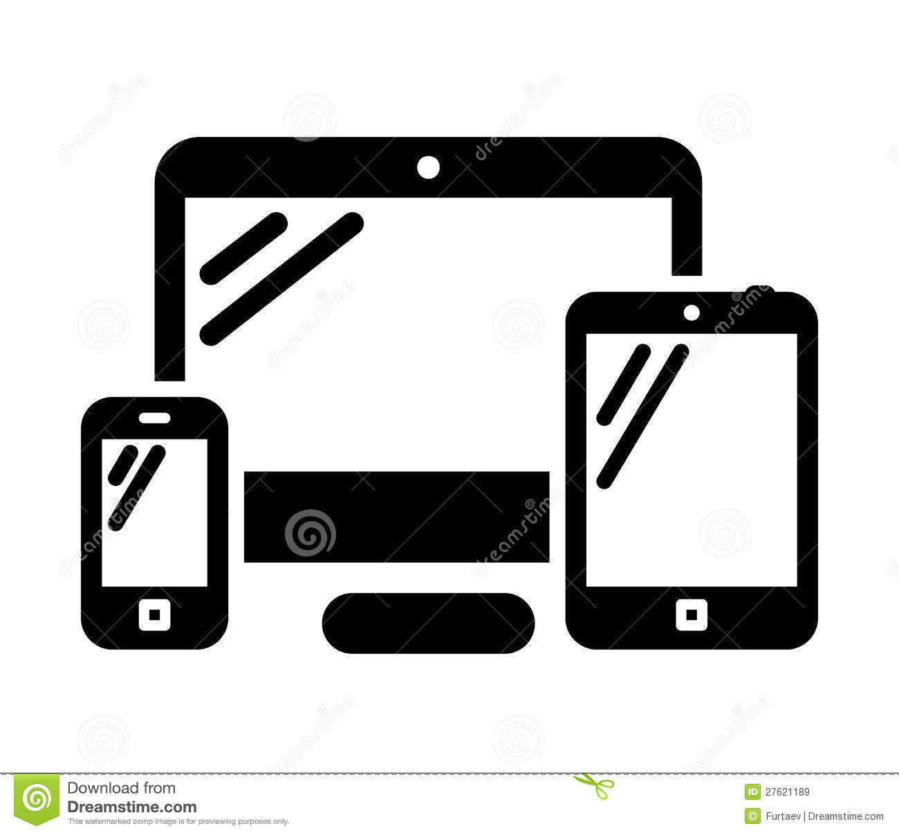 Phone Computer And Tablet Stock Vector Illustration Of Isolated