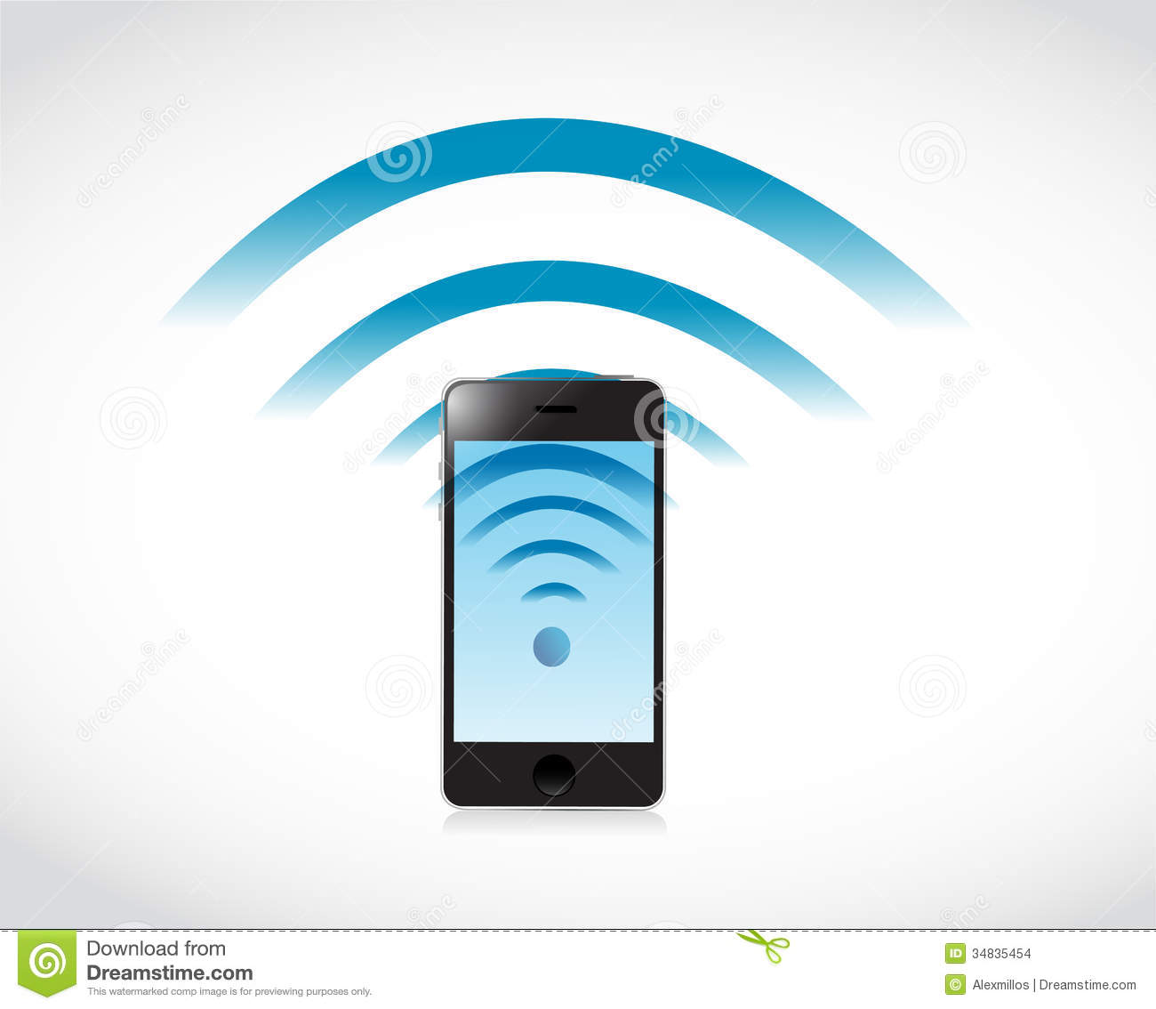 Phone connection wifi illustration design stock images for Architecture wifi