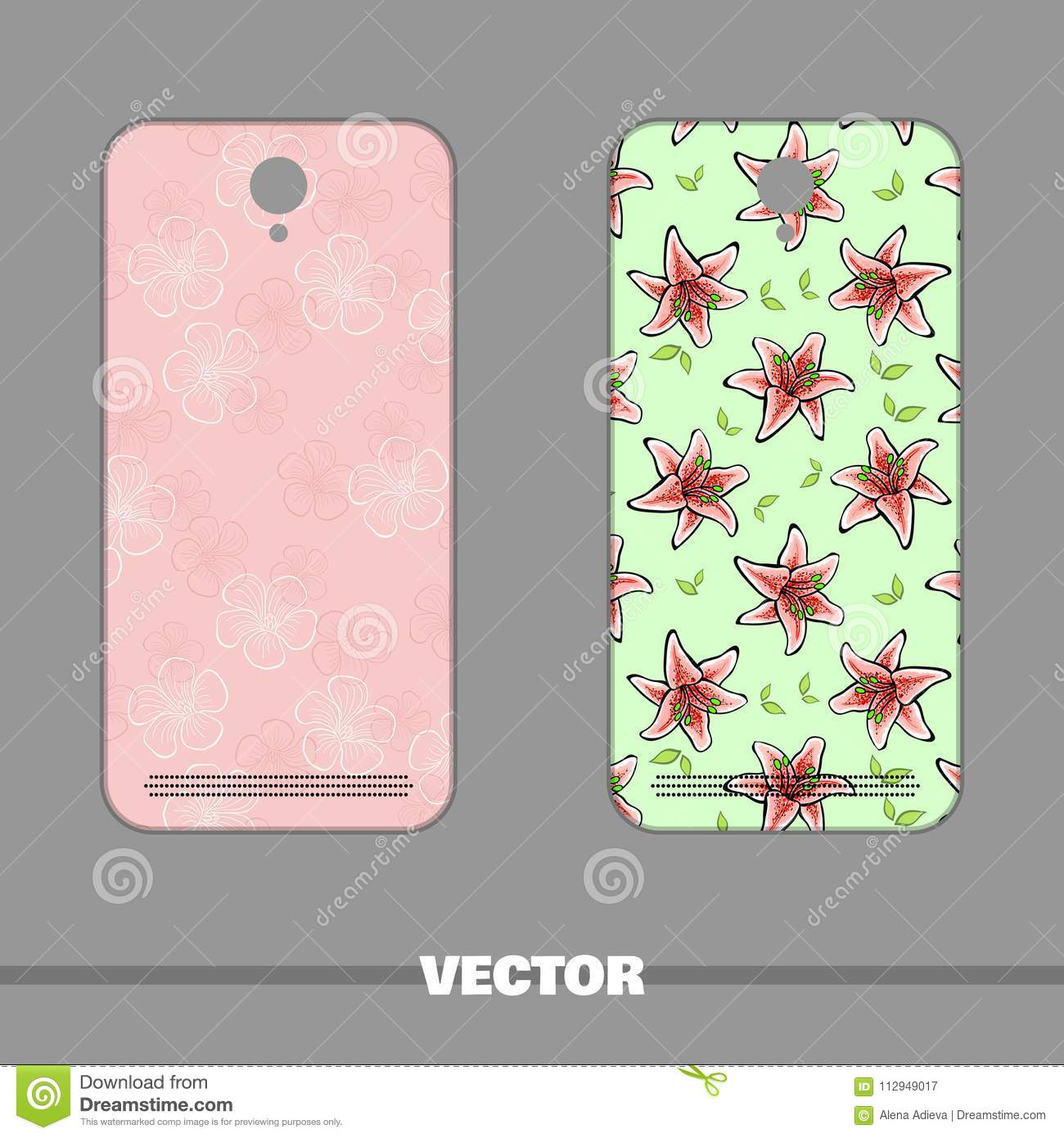 Phone Decorations For Spring Stock Vector Illustration Of