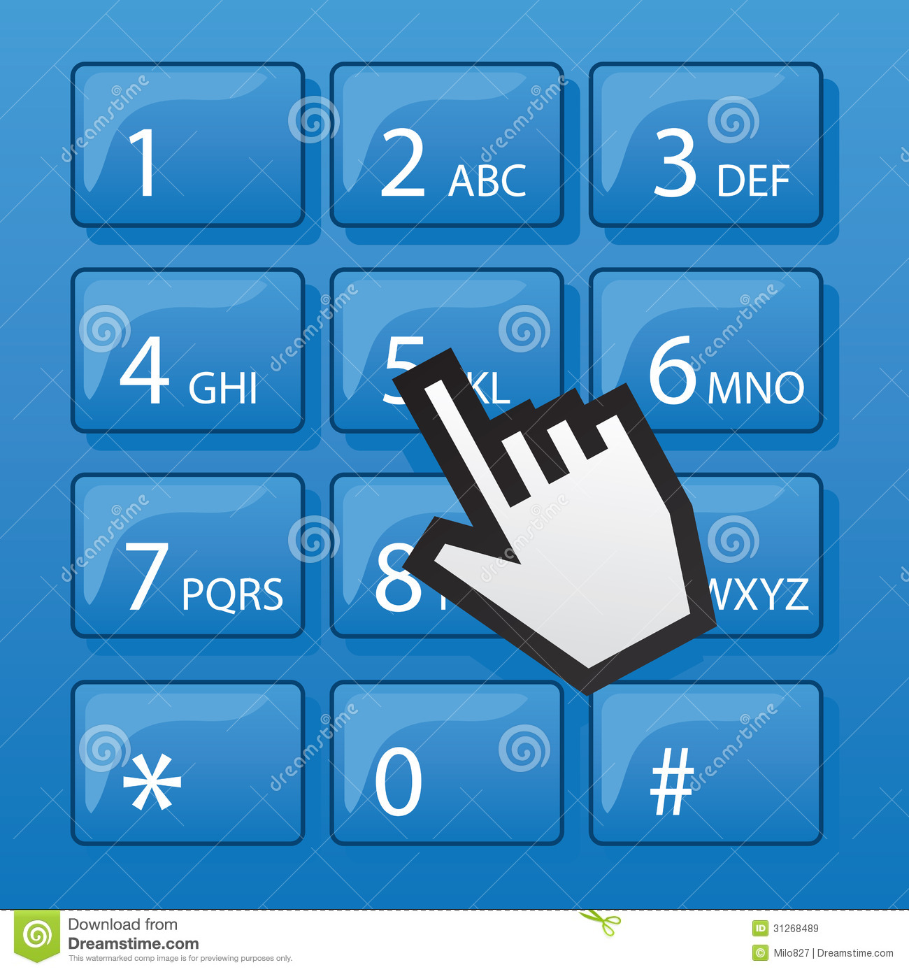 Phone Dial Pad Pointer Royalty Free Stock Images - Image: 31268489