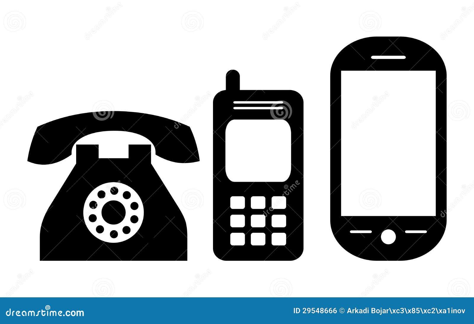 Phone Icon Stock Vector Illustration Of Cellphone Retro 29548666