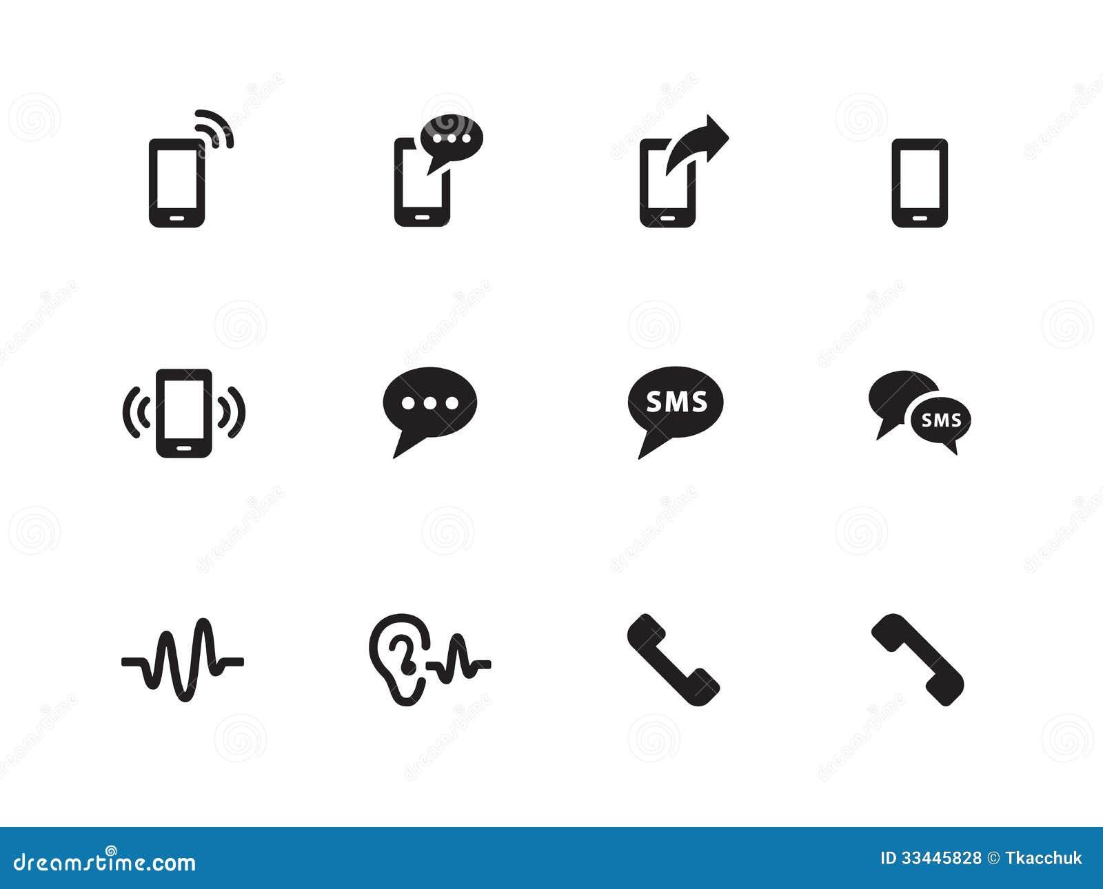 phone icons on white background  royalty free stock photos
