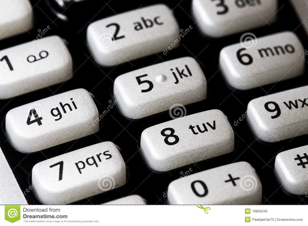 Phone Pad Stock Photo - Image: 19805040