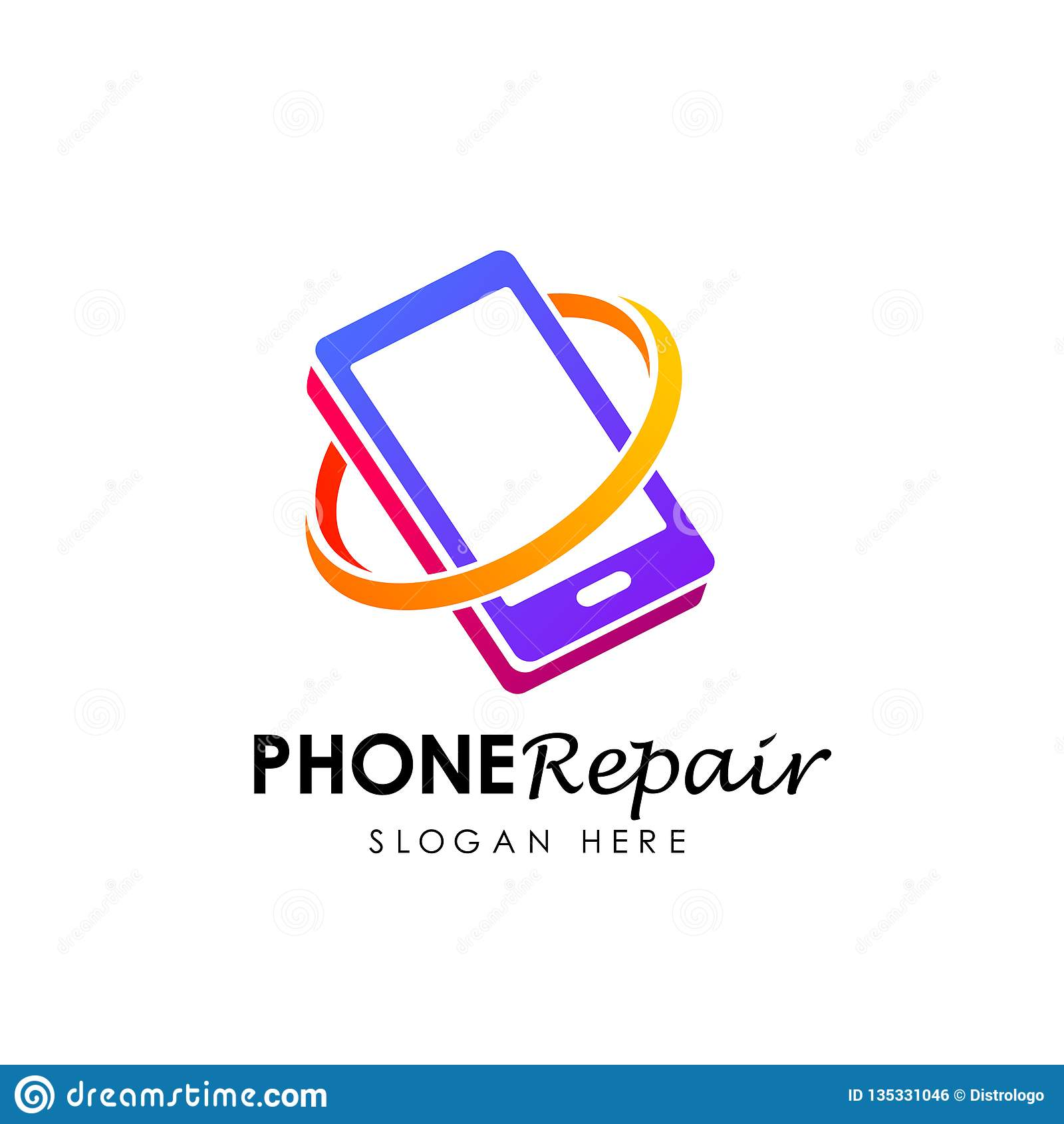 Phone Repair Logo Logo Design Phone Shop Logo Design Stock Vector Illustration Of Graphic Vector 135331046