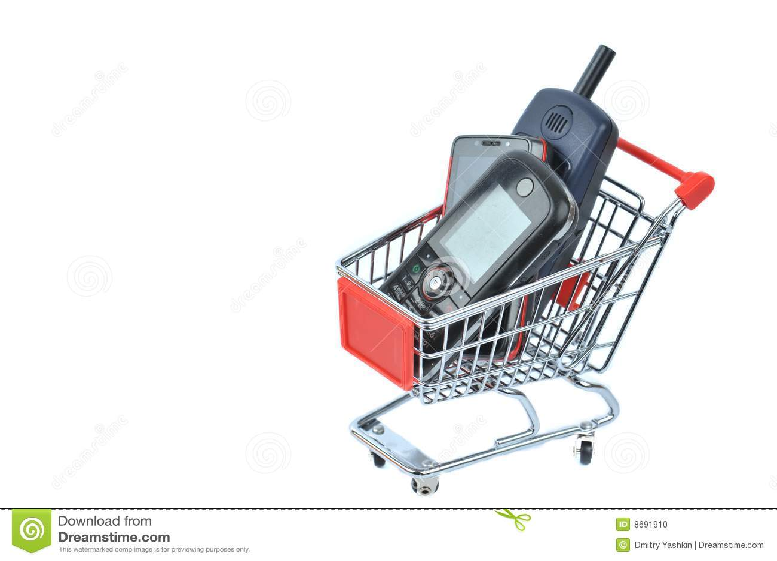 Phone in shopping basket