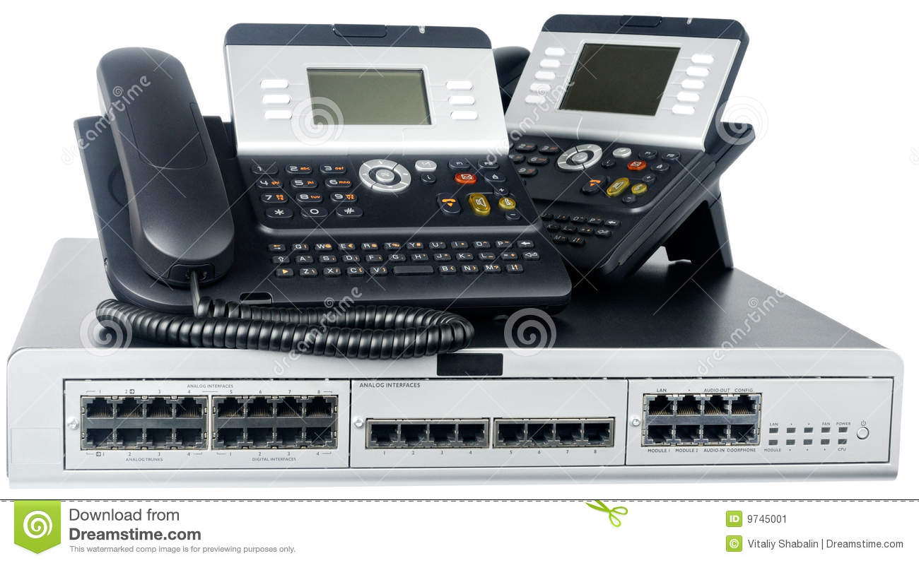Phone switch and telephones