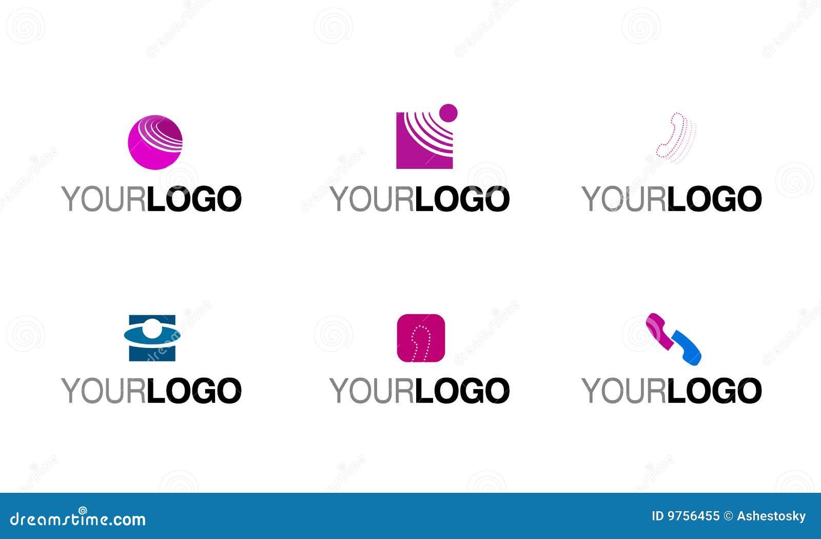 phone telecommunication logo stock vector
