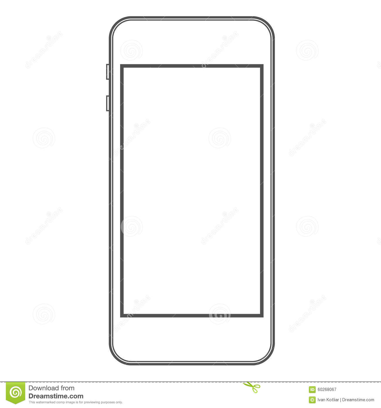 Phone Template Stock Vector Image 60268067