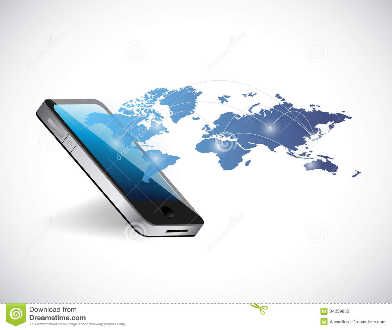Phone and world map illustration design stock illustration phone world map network illustration design stock photo gumiabroncs
