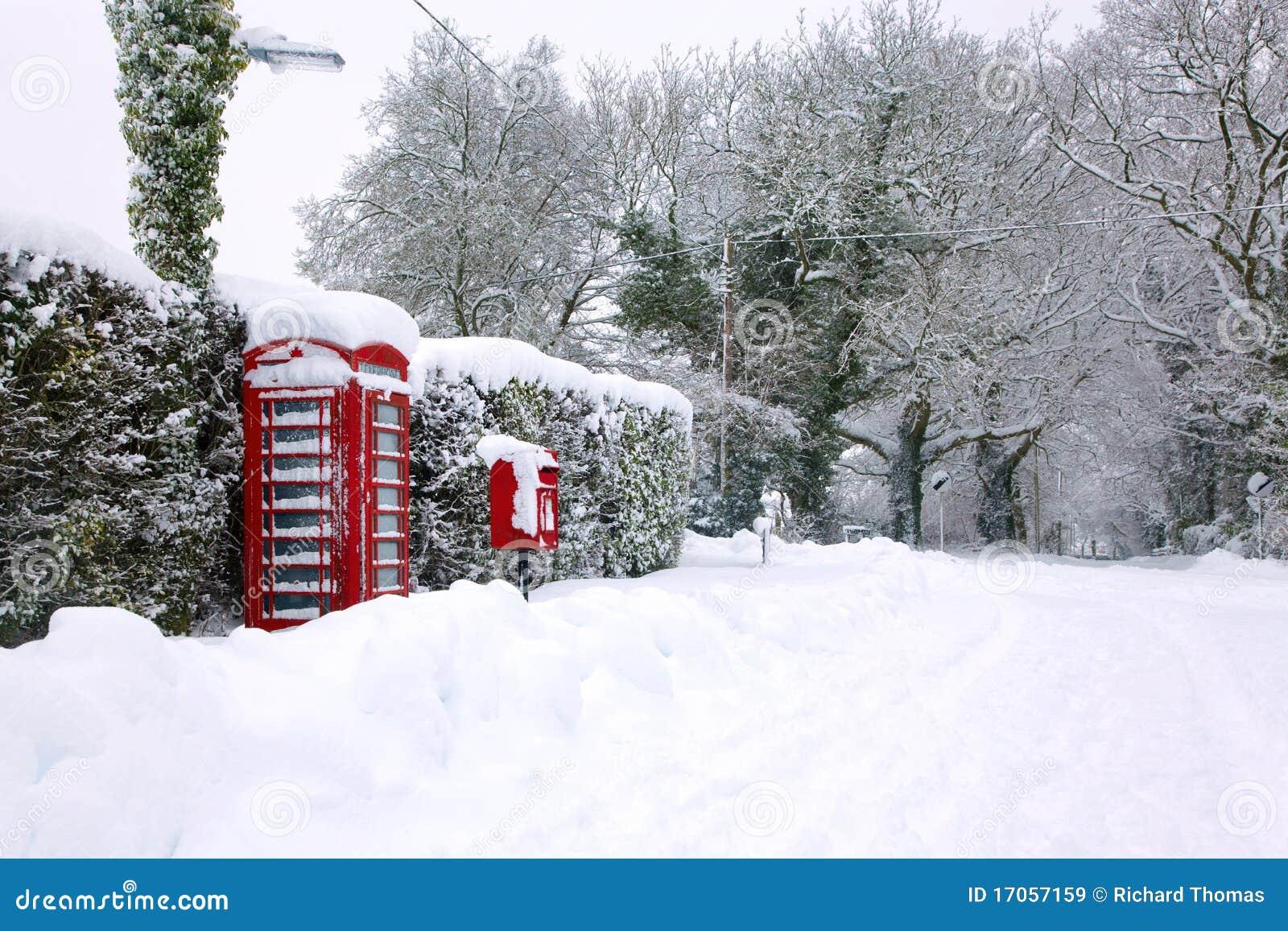 Phonebox κόκκινο χιόνι