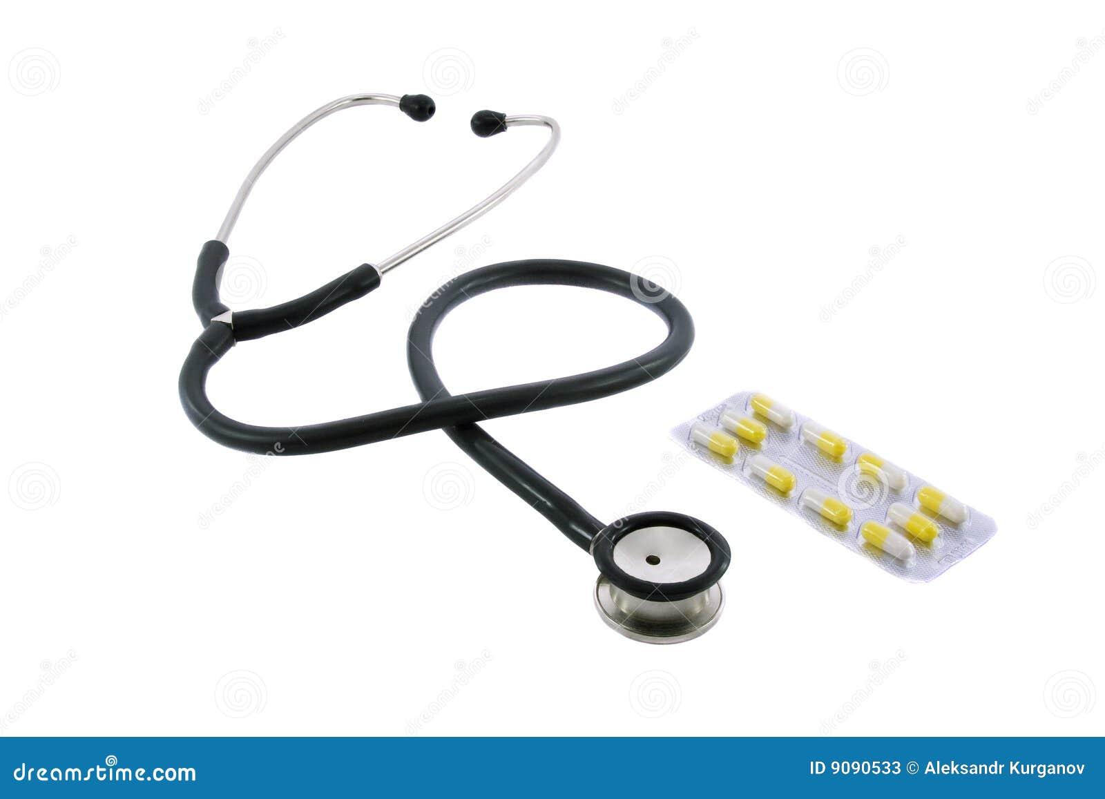 Phonendoscope und Pillen