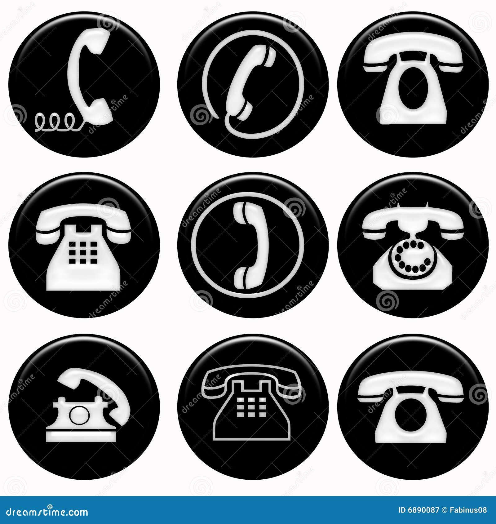Phones Symbols Stock Illustration. Illustration Of