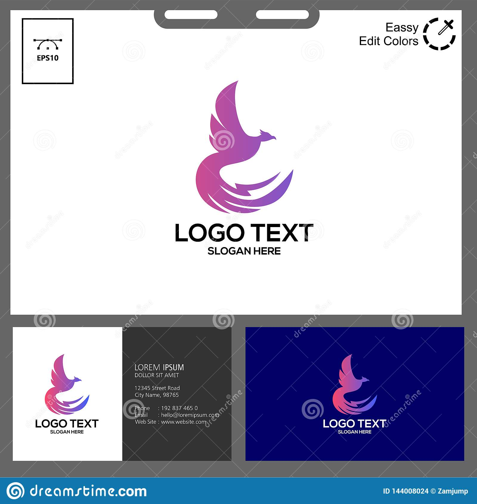 the simple concept of phonic logo vector