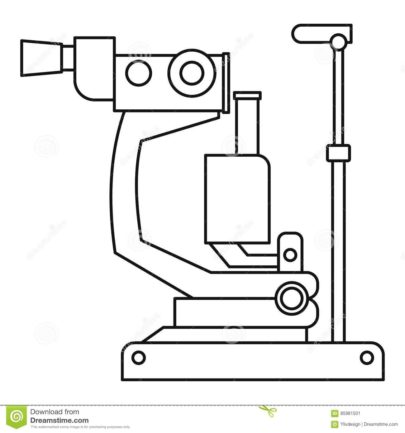 Phoropter, Ophthalmic Testing Device Machine Icon Stock