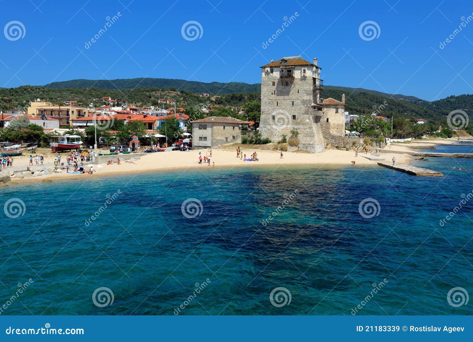 Phospfori tower in Ouranopolis, Athos Peninsula