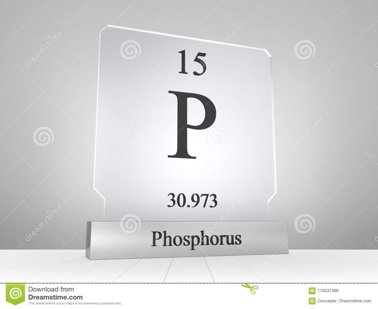 Phosphorus symbol on modern glass and metal icon stock illustration download comp urtaz Images