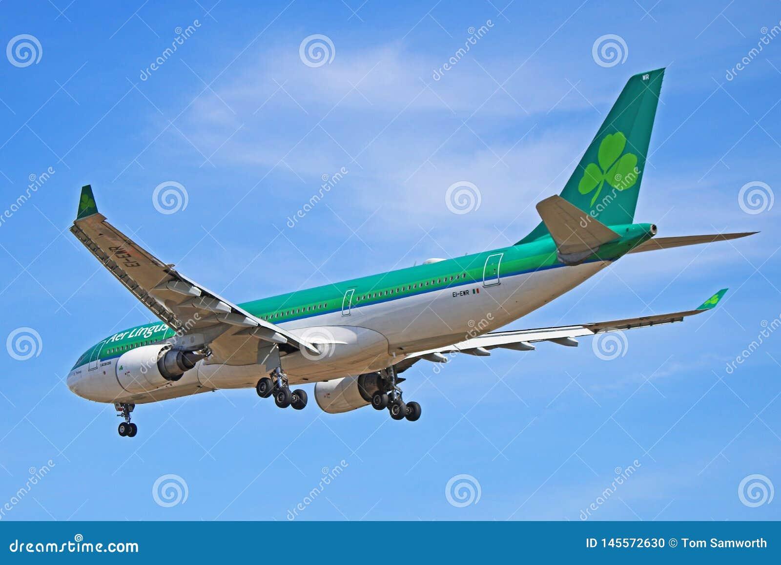 An Aer Lingus Airbus A330-200 Rear View