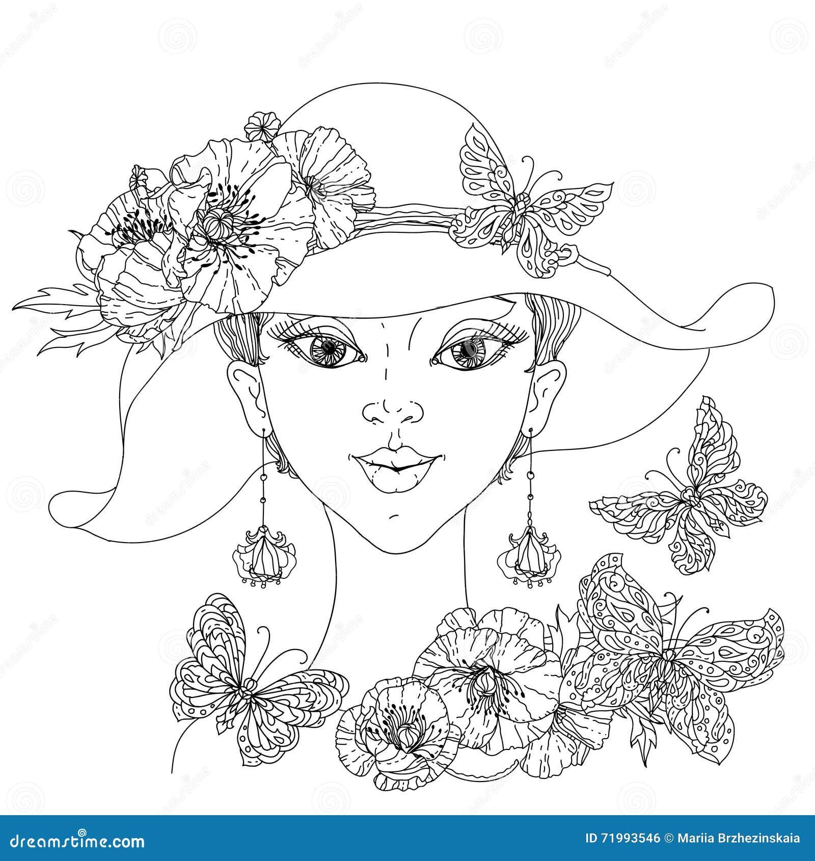 Photo Antistress De Style De Livre De Coloriage Illustration De