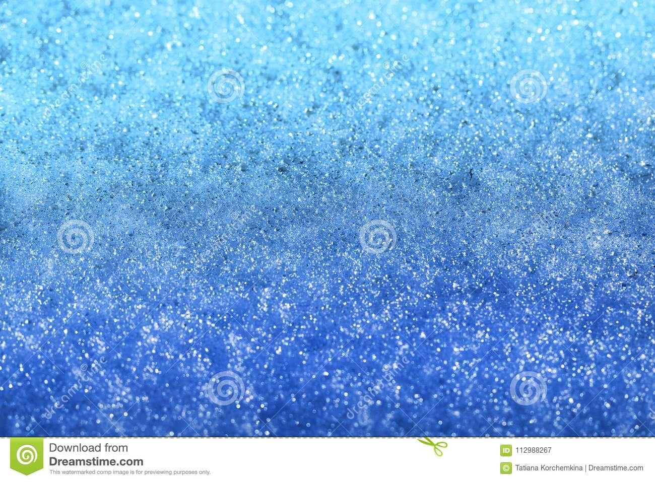 Photo of a background of blue melting snow