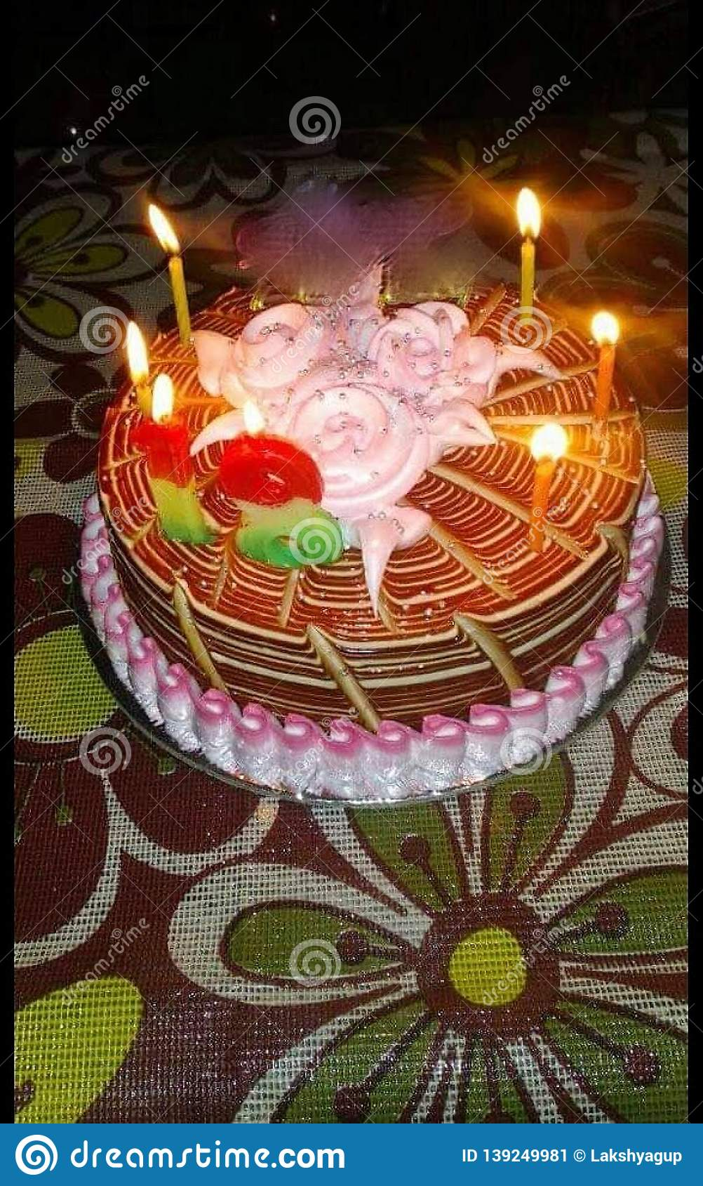 Wondrous It Is The Photo Of A Birthday Cake Looks Beautiful Stock Image Funny Birthday Cards Online Sheoxdamsfinfo