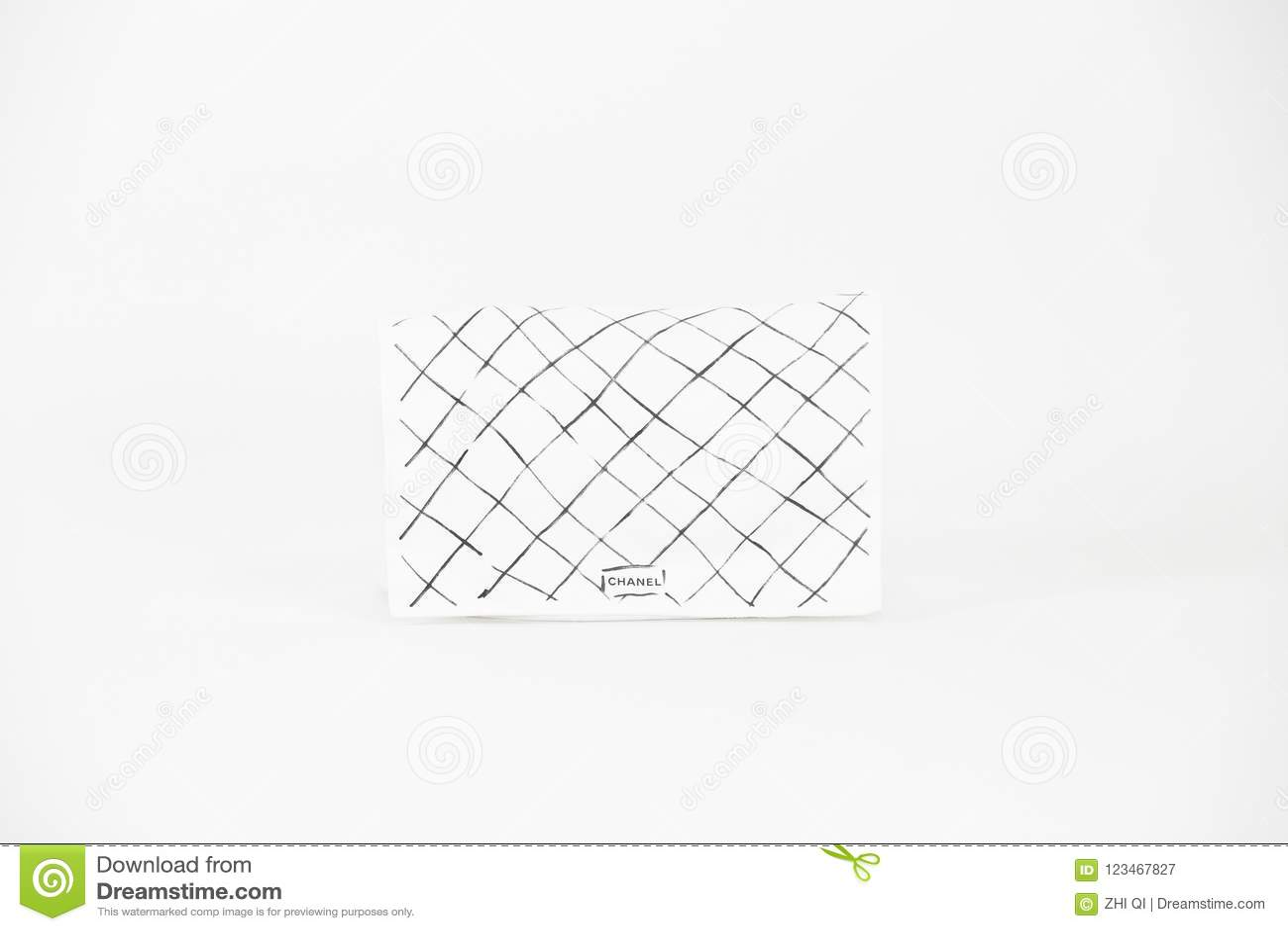 8cc362a4a9a4 Photo Of Black Chanel Handbag Brand Editorial On White Background ...