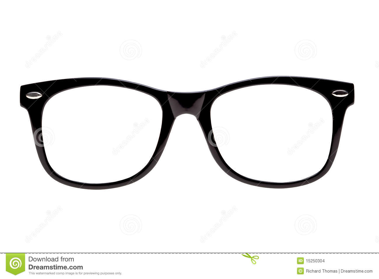 Photo Black Nerd Spectacle Frames Stock Images Image
