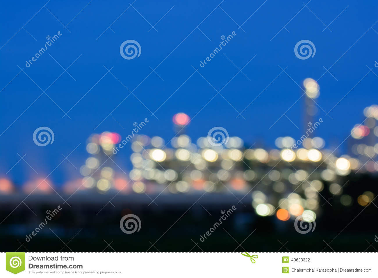 Photo blur Oil refinery factory plant or chamical and power energy