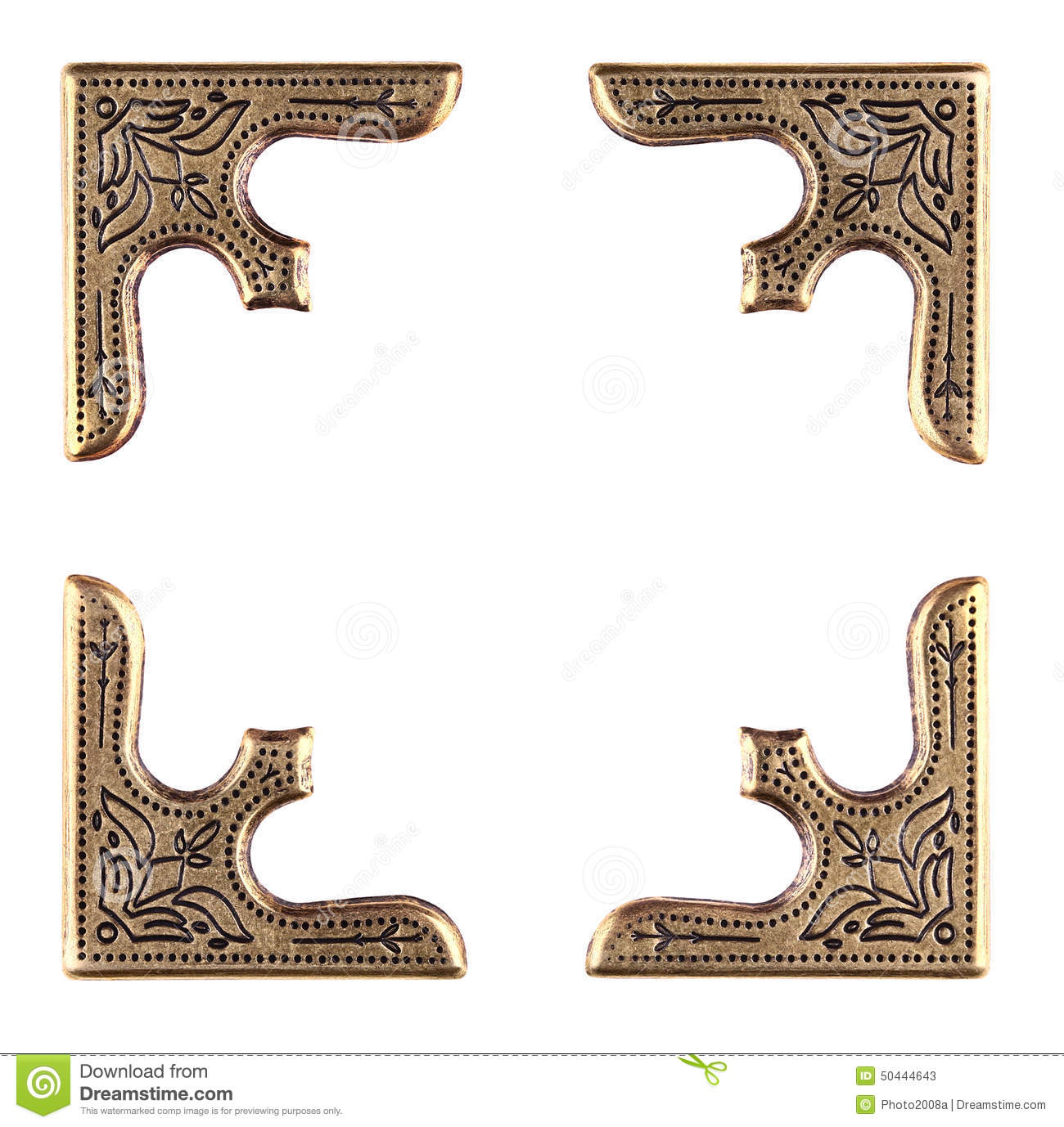 photo or book corners picture frame stock photo image 50444643
