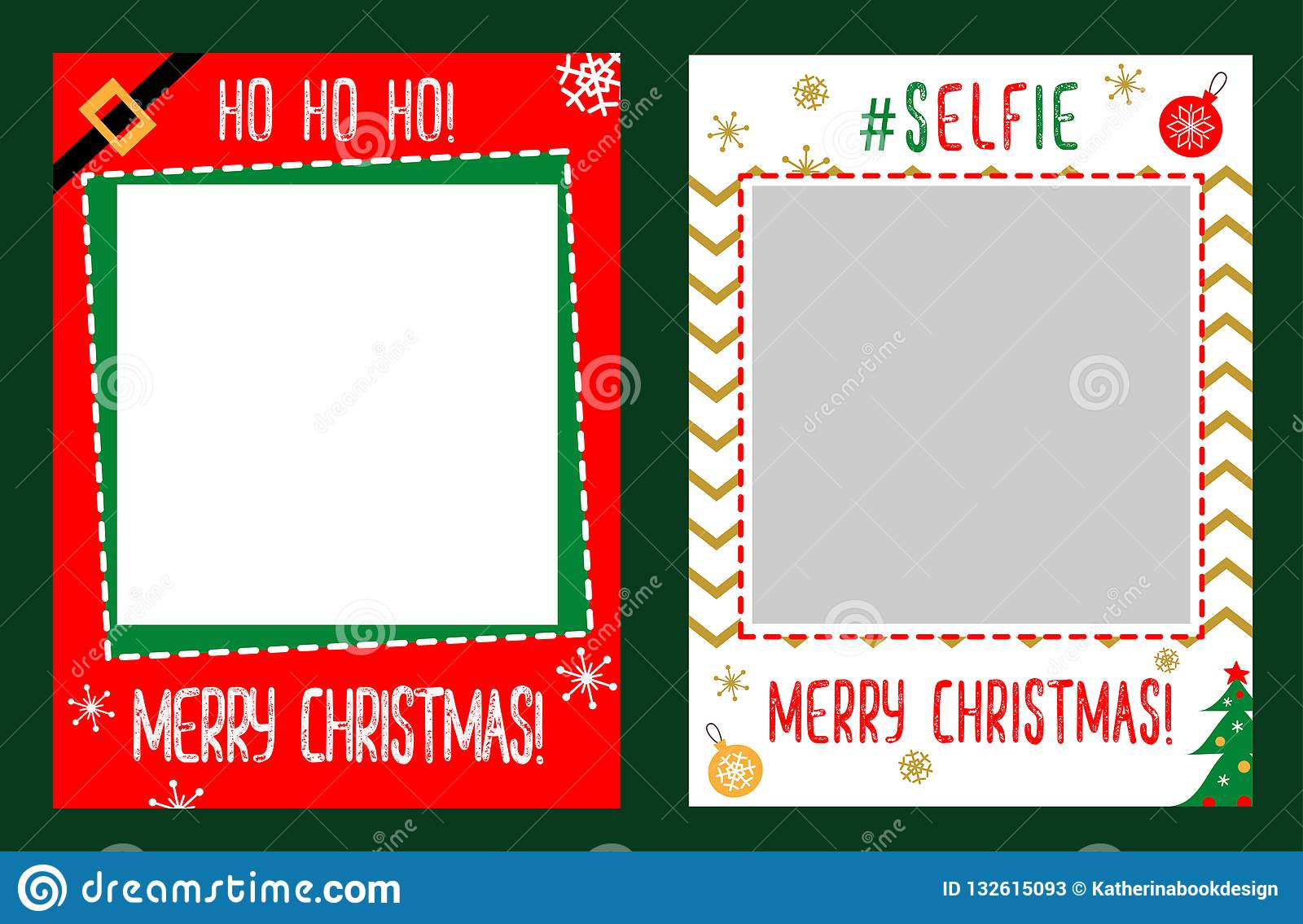 Photo Booth Props Frame For Christmas Party Stock Vector
