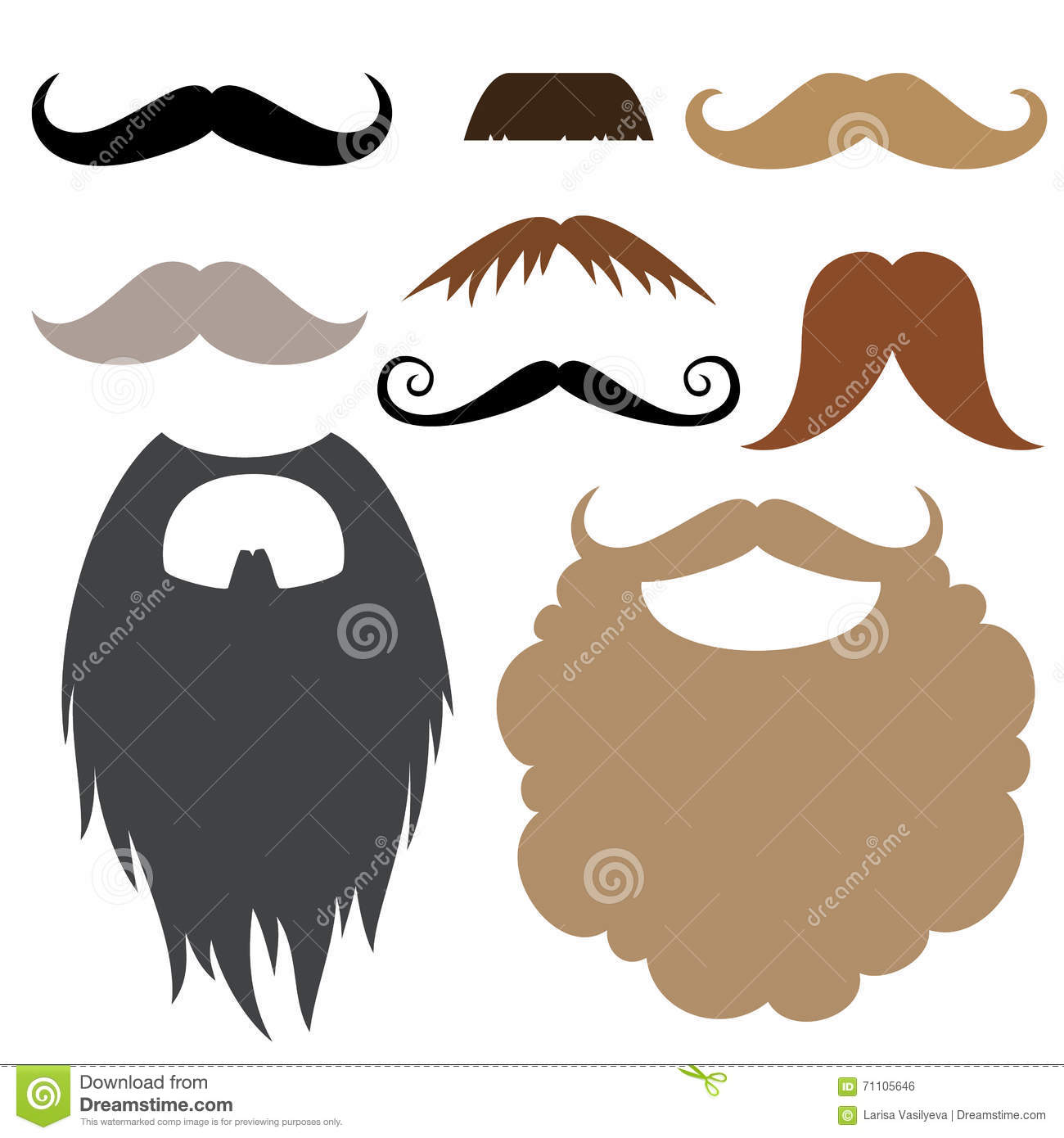 Photo booth props stock vector  Illustration of male - 71105646