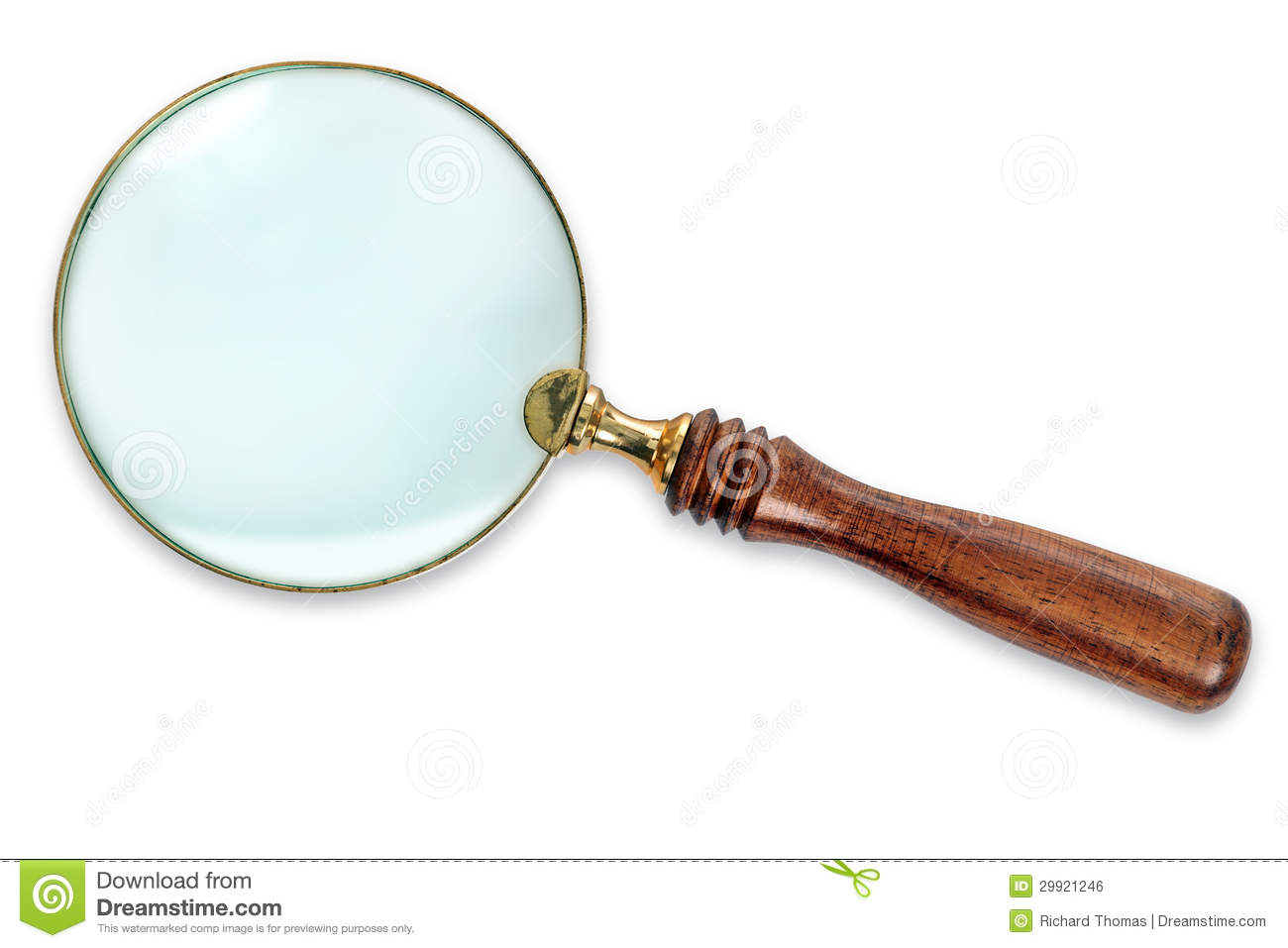 Magnifying Glass Isolated With Clipping Path Royalty Free Stock Image ...