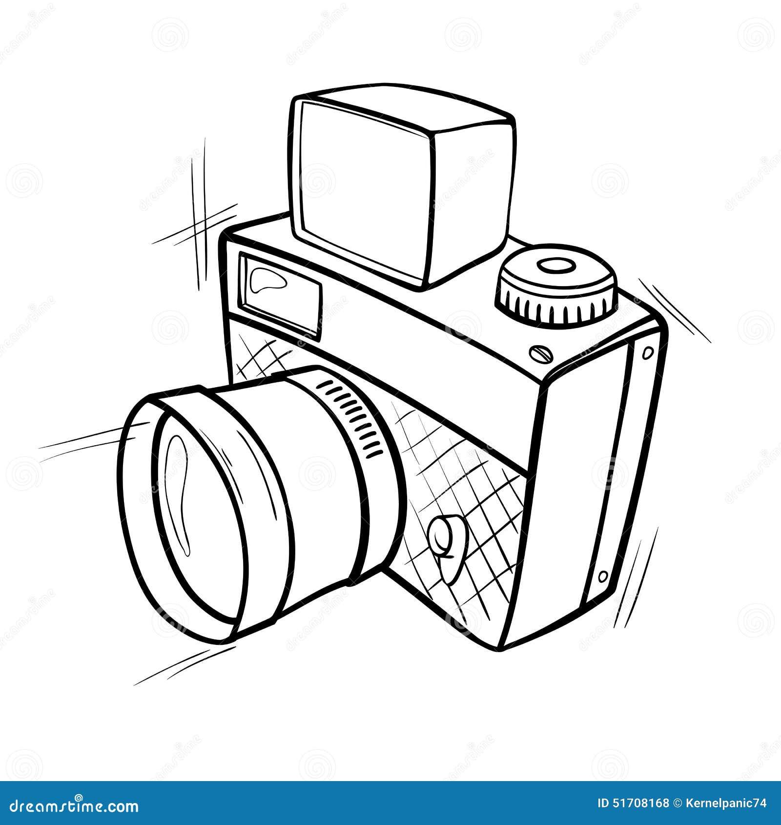 Photo camera stock vector image of isolated shutter for Disegni delle macchine