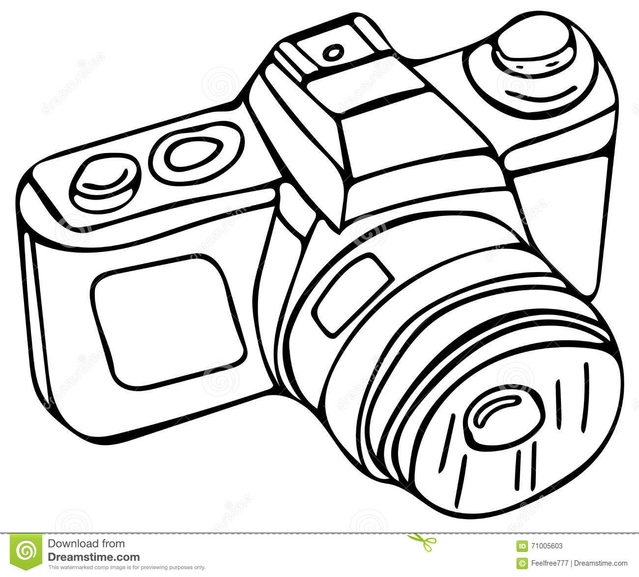 stock photos  photo camera coloring pages  image  71005603