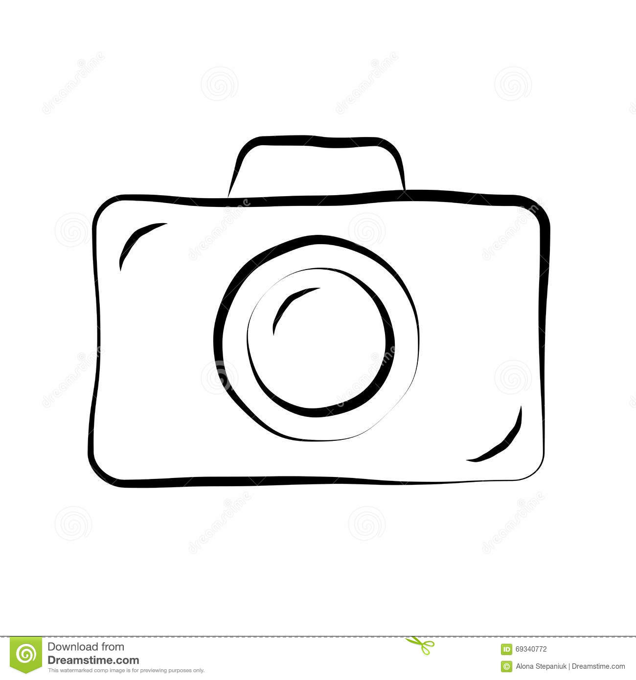 Photo camera icon outline style vector illustration for Decor outline