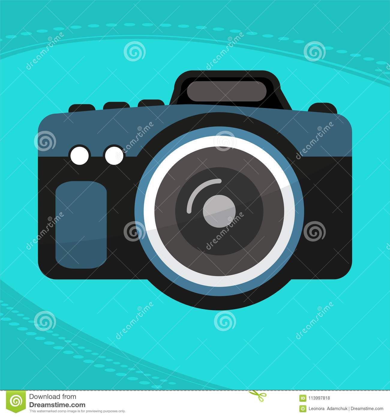 Photo camera icon modern minimal flat design style stock for Camera minimal