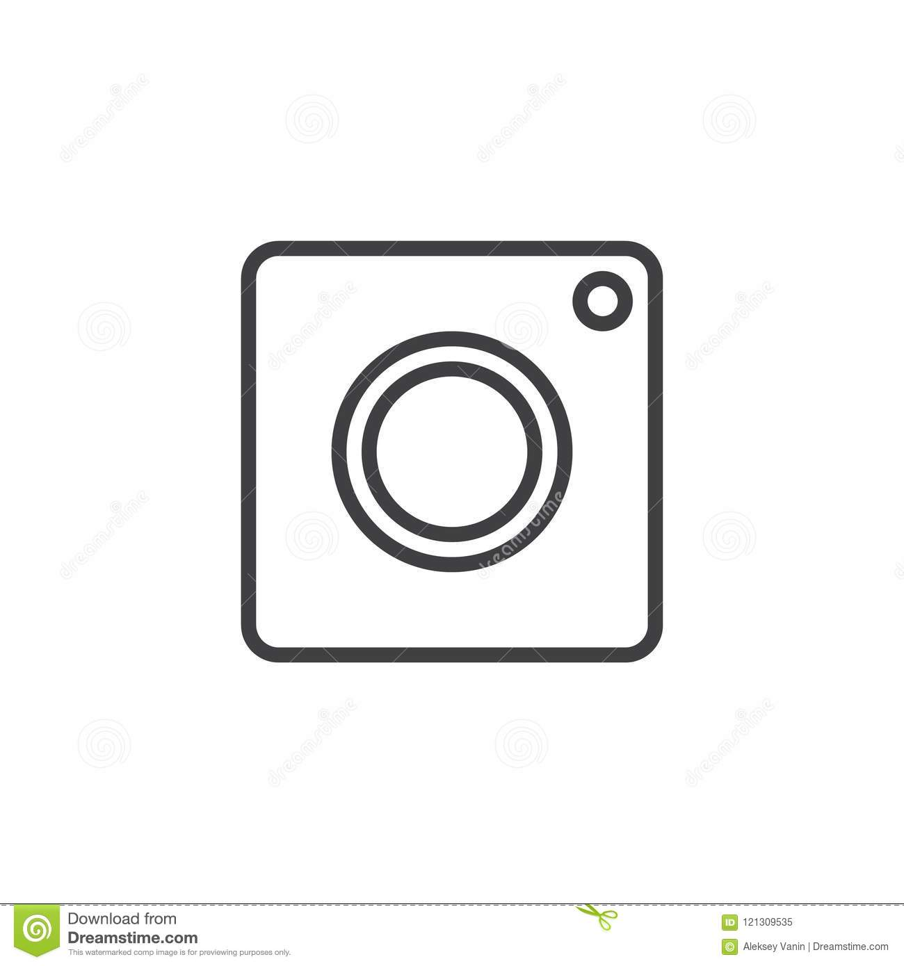 Instagram Camera Outline Icon Stock Vector Illustration Of