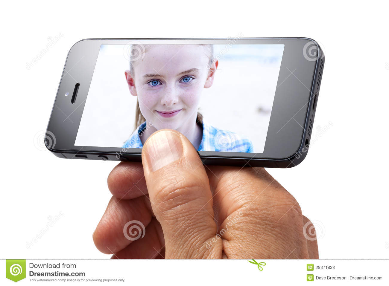 Photo Cell Phone Girl Hand
