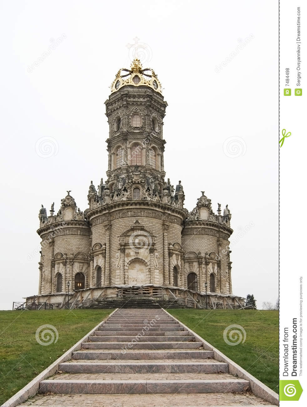 Photo of church in baroque style royalty free stock photos for Baroque style church