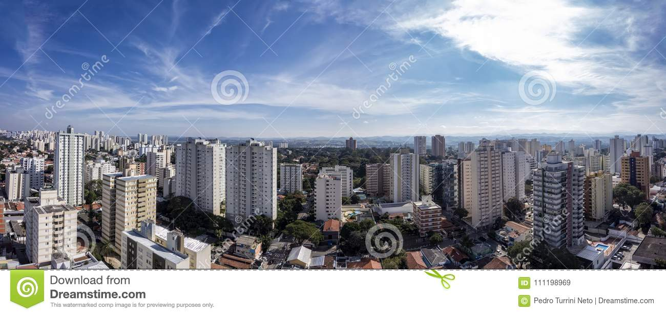 City Sao Jose dos Campos, SP / Brazil, in the afternoon panorama photo