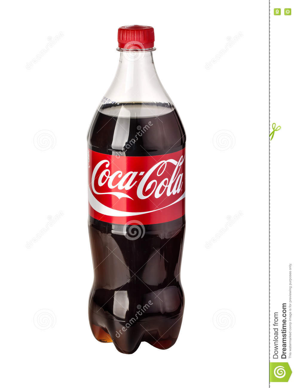 photo of cocacola plastic bottle isolated editorial