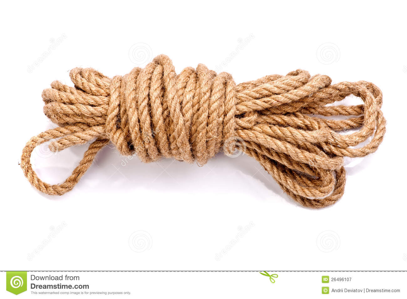 Photo Of A Coil Of Rope Royalty Free Stock Photography - Image ...