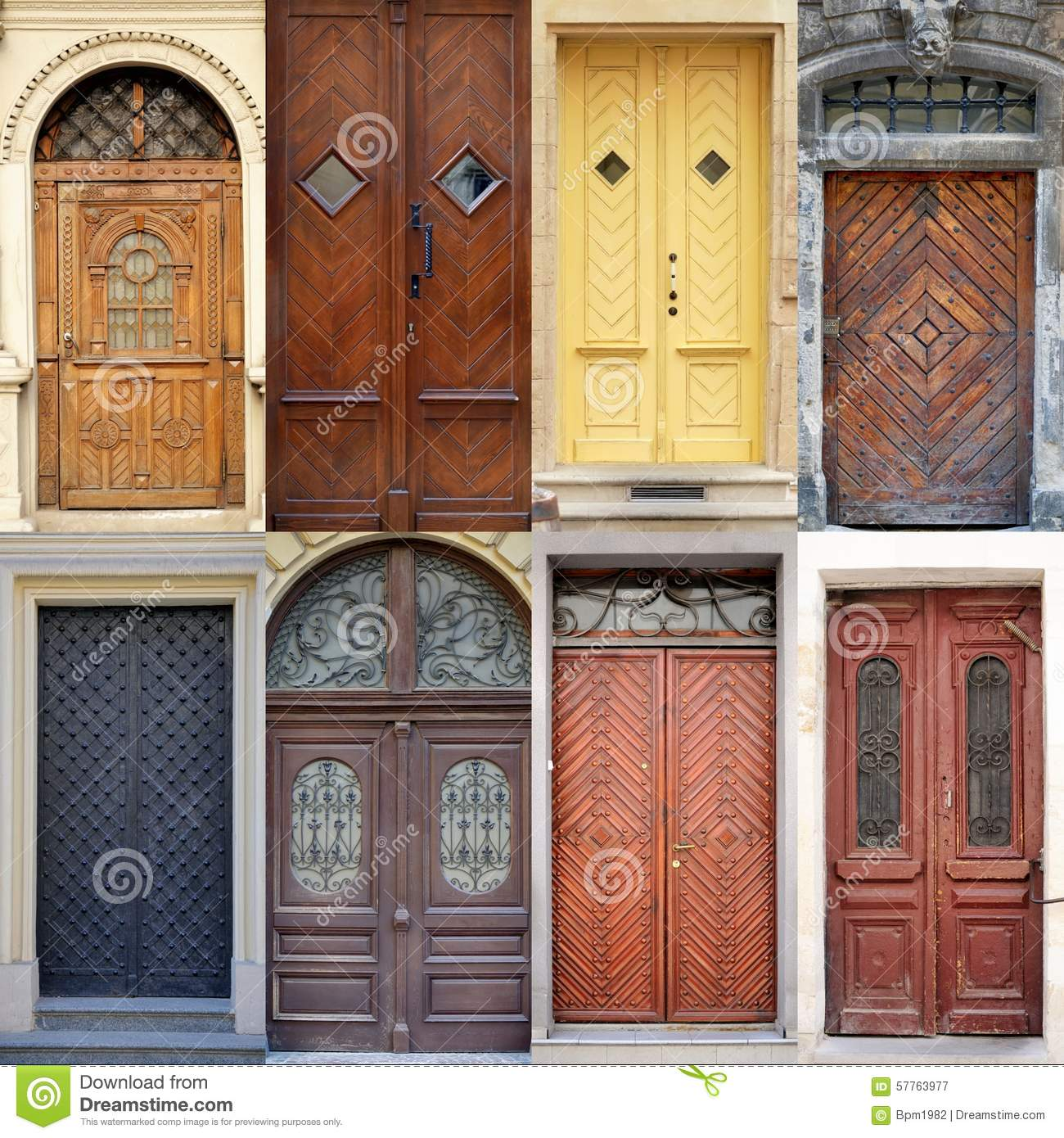 a photo collage l front doors to houses - Front Door Photos Of Homes