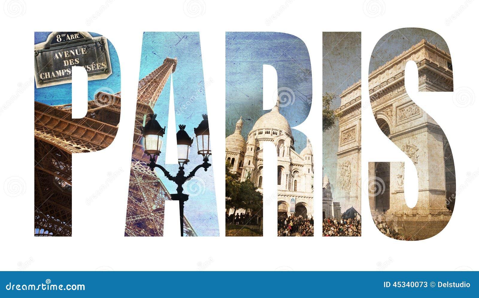 photo collage letters paris