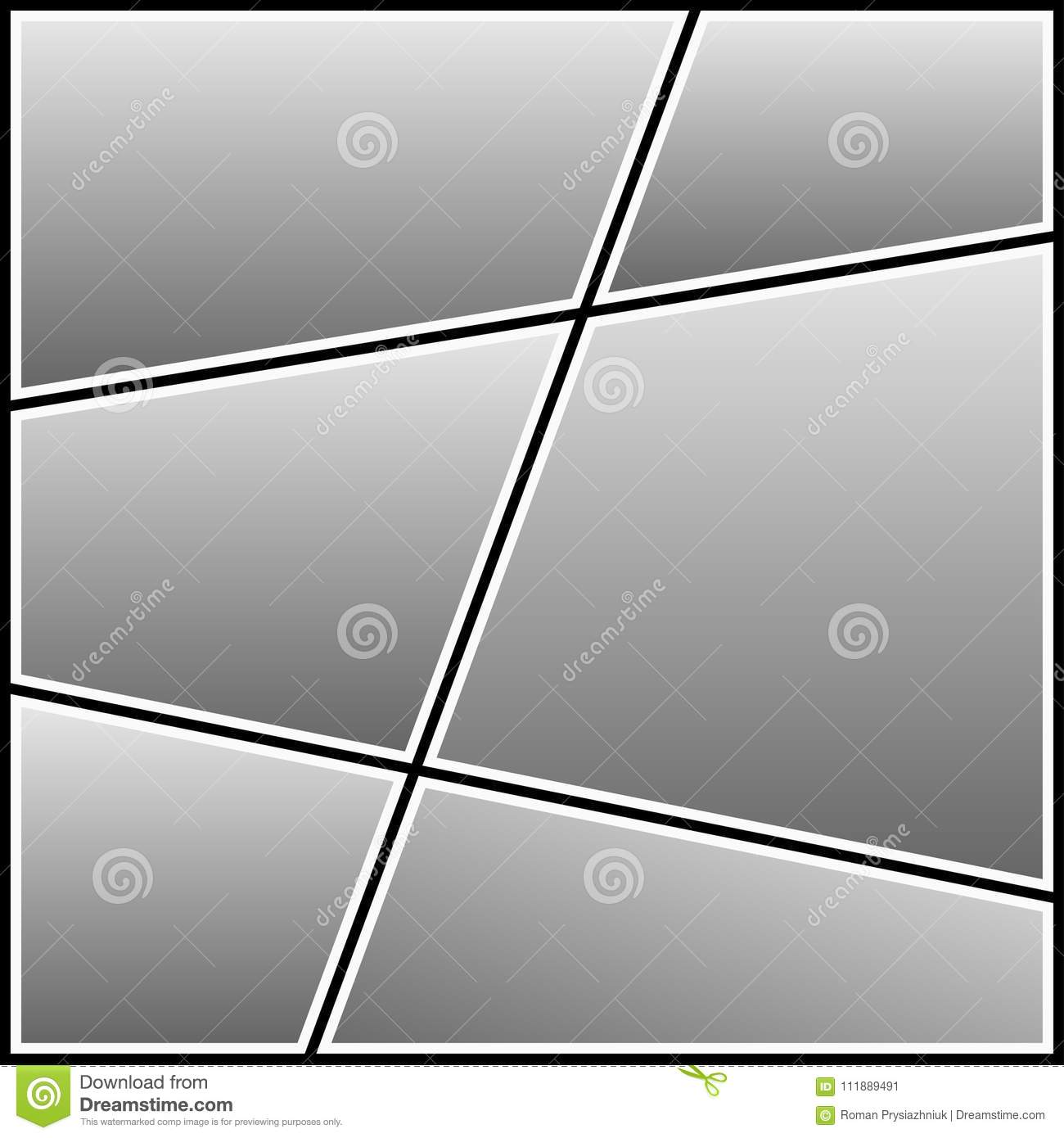 photo collage template blank frame for photography image vector
