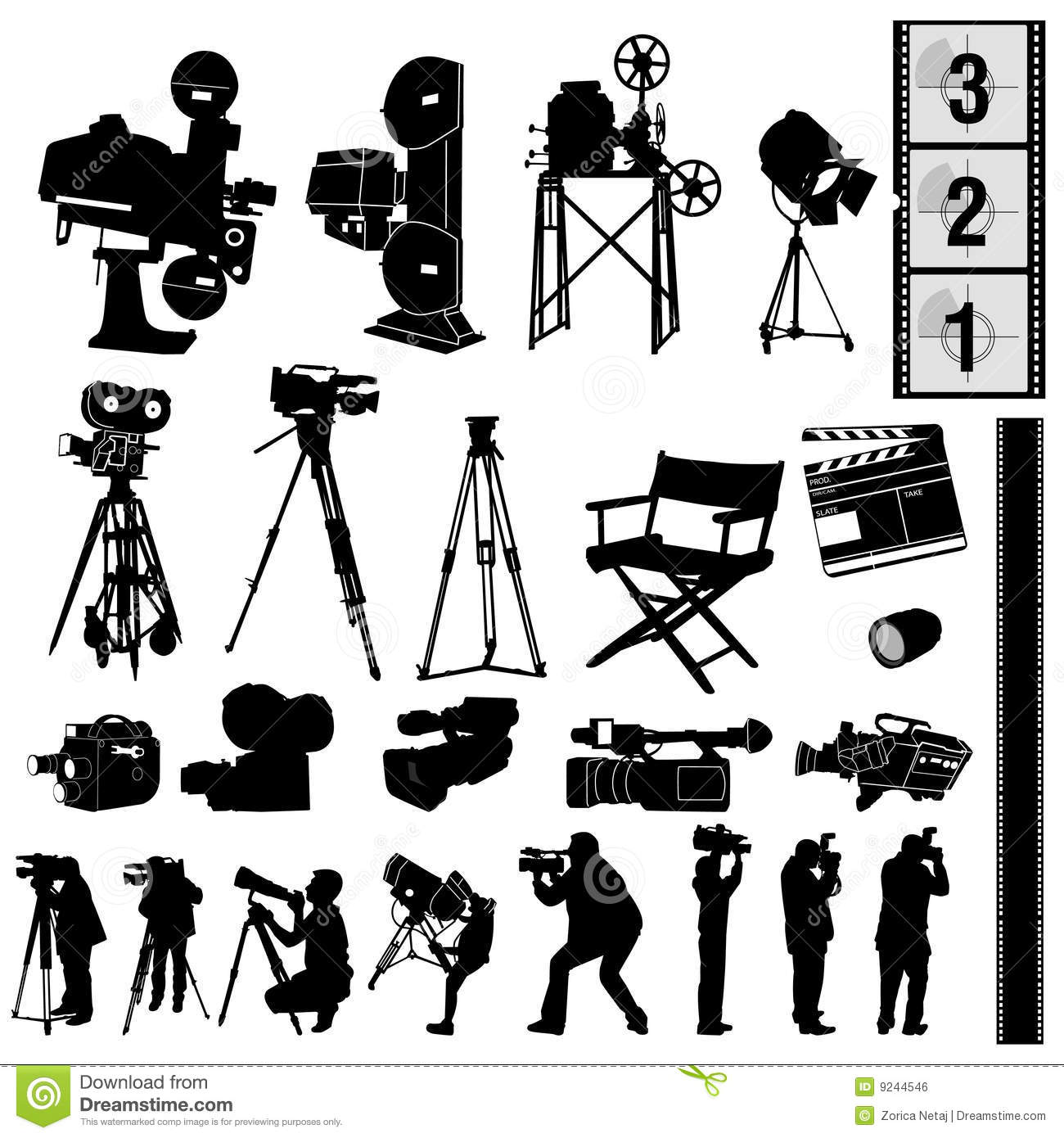 Photo collection stock vector. Image of equipment, collection ... for Camera Equipment Clipart  111bof