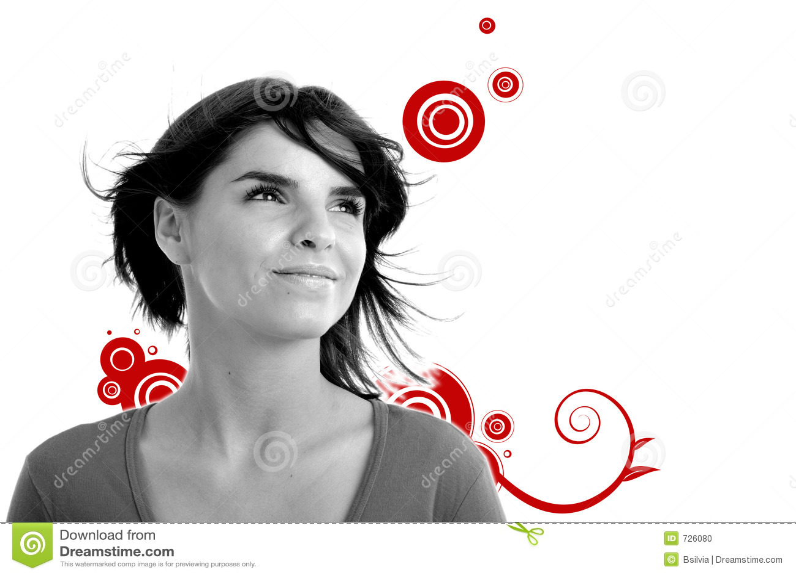 Photo courante d un jeune joli femme