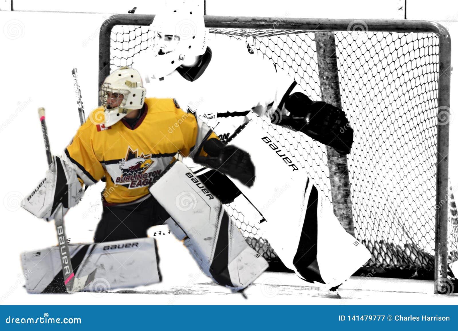 Photo d action d hockey