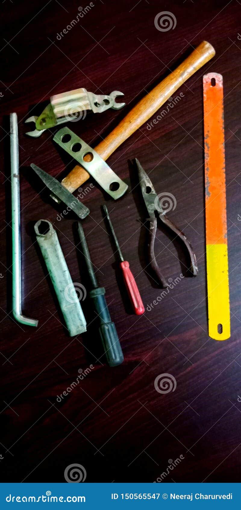 Photo d actions de trousse à outils d équipement d ingénieur