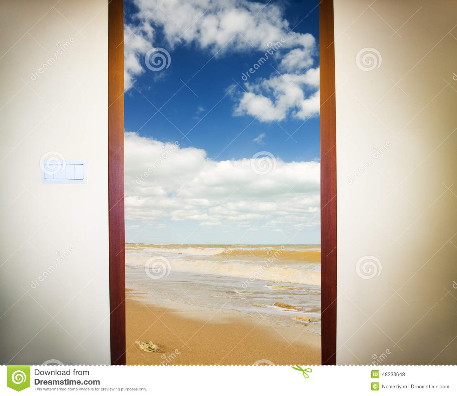 photo d 39 une porte ouverte illustration stock image 48233648. Black Bedroom Furniture Sets. Home Design Ideas