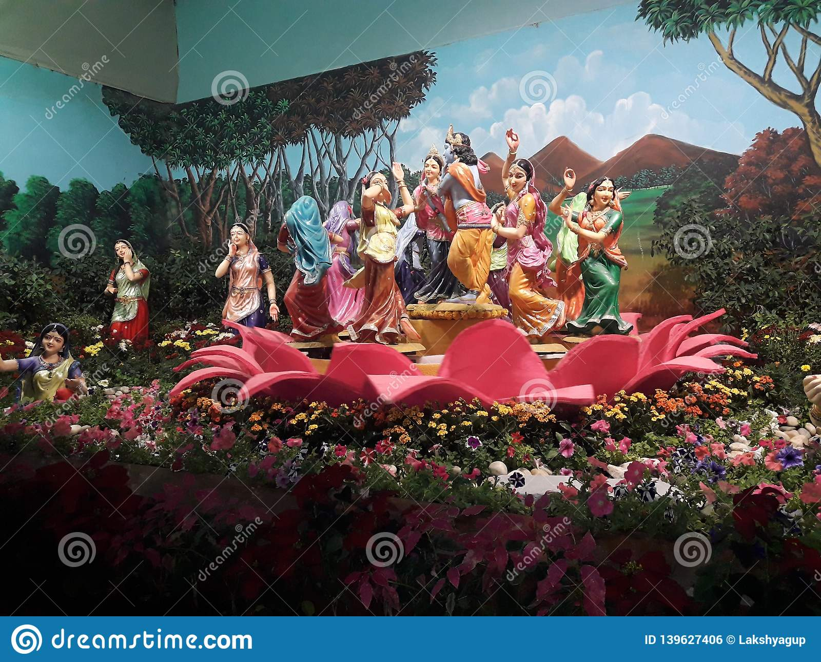 This Is The Photo Of Dancing Monument Of Lord Krishna And